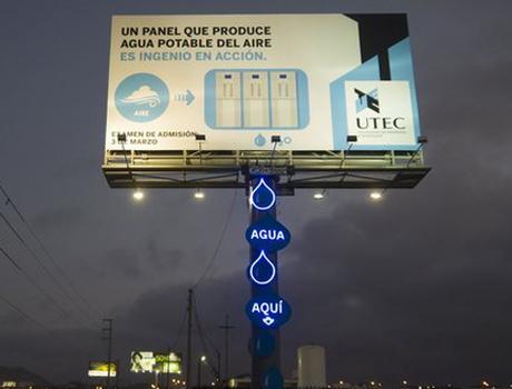 Biển quảng cáo biến không khí thành nước 1
